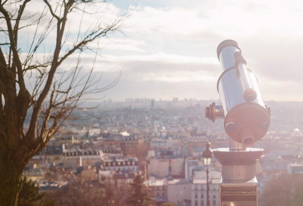 Vues de Paris depuis Montmartre