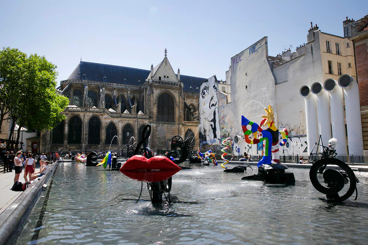 Place Stravinsky, Beaubourg
