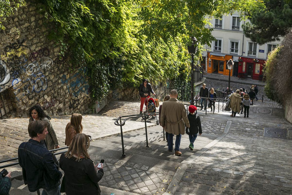 Montmartre neighbourhood Paris