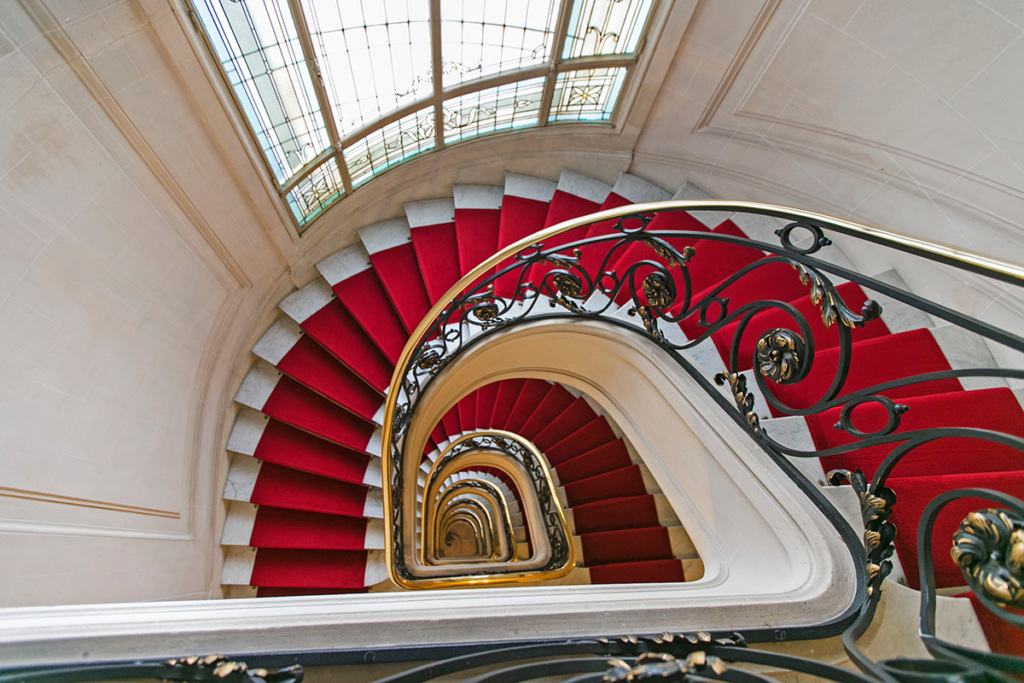 Staircase parisian building