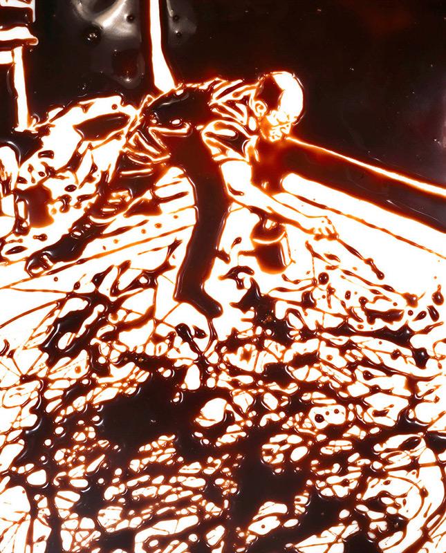 Vik Muniz Hans Namuth Jackson Pollock Chocolate photographie