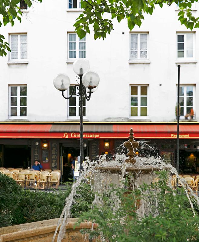 Square Contrescarpe place Paris