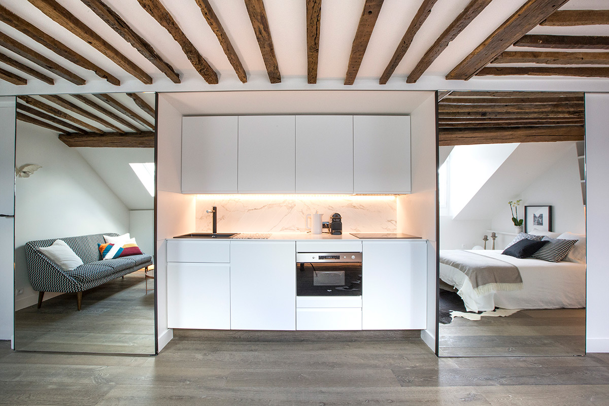 space-saving apartment Paris redesigning architect