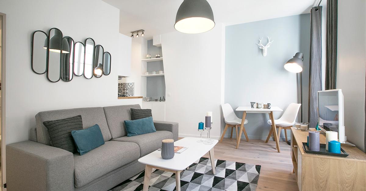 am nager des petites et moyennes surfaces pour la location meubl e. Black Bedroom Furniture Sets. Home Design Ideas