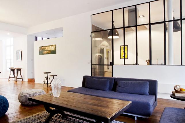 cuisine vitre atelier verriere decorative type atelier chassis guillotine with cuisine vitre. Black Bedroom Furniture Sets. Home Design Ideas
