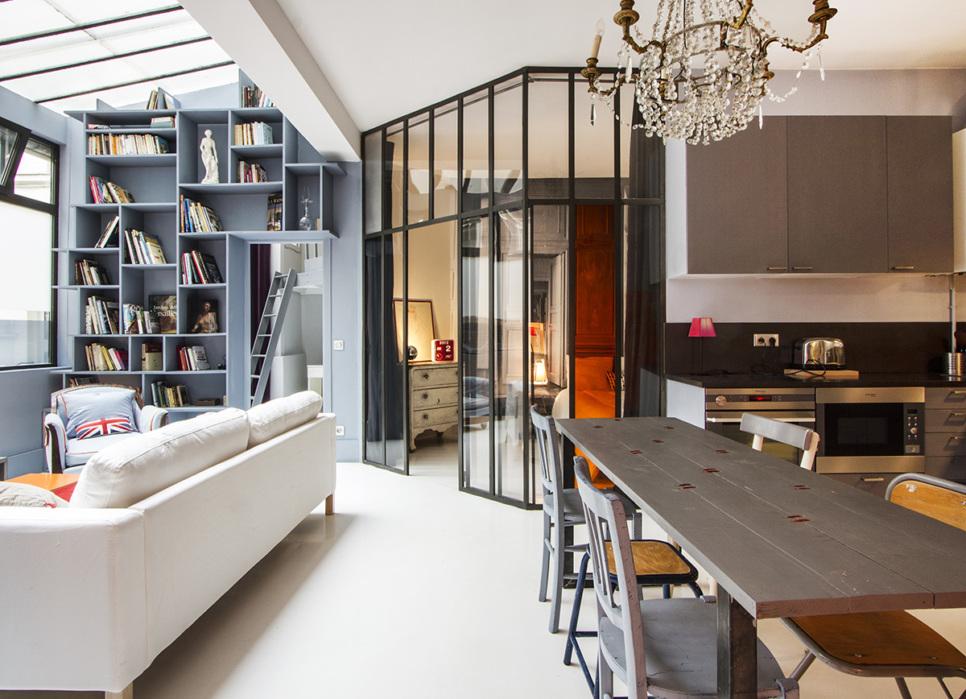Appartements meubl s avec verri re dans paris qui vous feront craquer - Appartement loft paris ...