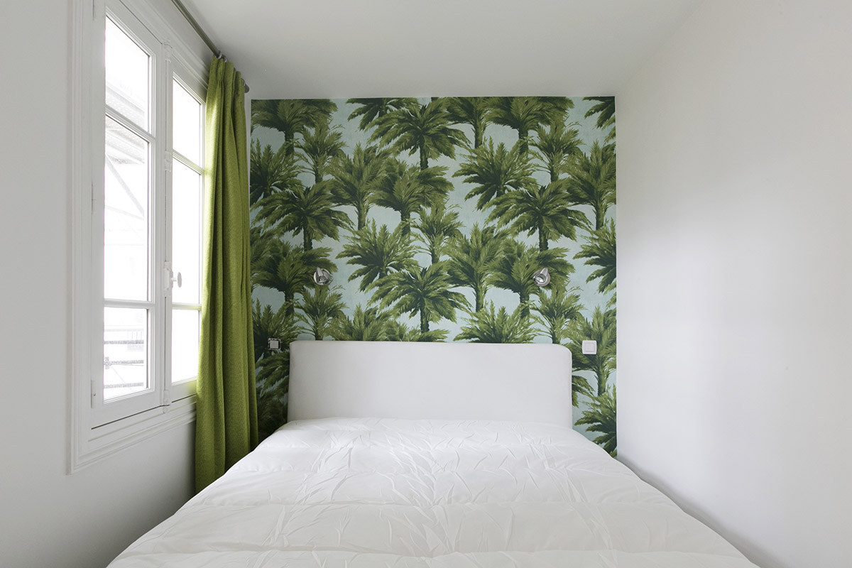 furnished bedroom wallpaper Pierre Frey Paris