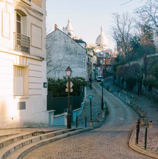 Hill Sacré Cœur street Paris