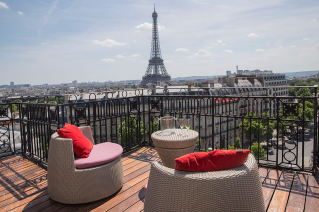Terrace with a panoramic view of Paris