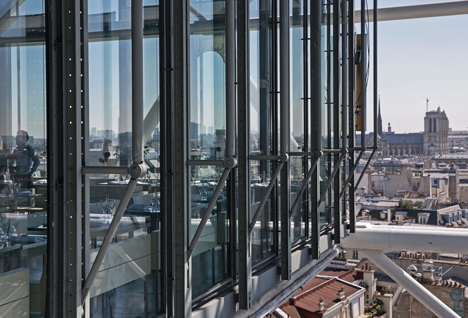 Top floor of the Pompidou Centre