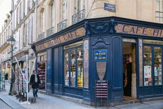 Café Biard Bookshop Rue Léopold Bellan Paris