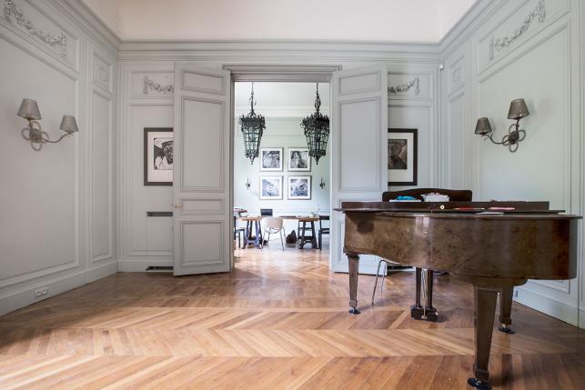 Sitting-room furnished apartment Paris 7