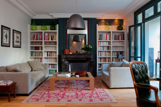 Living room furnished apartment Paris 16
