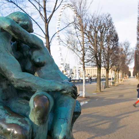 Paris artists Auguste Rodin public park Tuileries Le Baiser