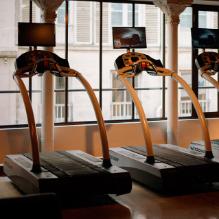 fitness machines running woodway