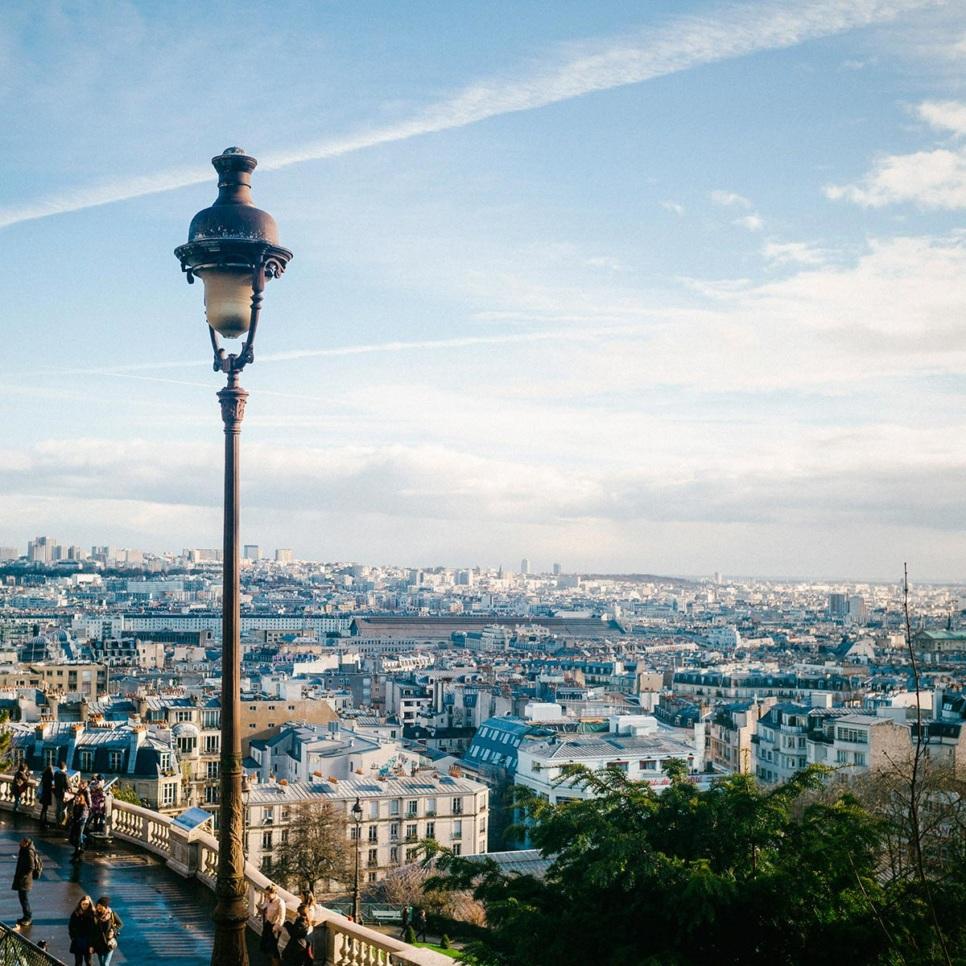 Montmartre sommet butte vues Paris