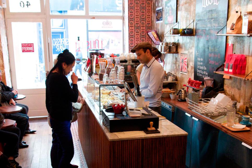 Paris café inside Loustic