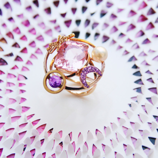 Colour jewellery ring Paris