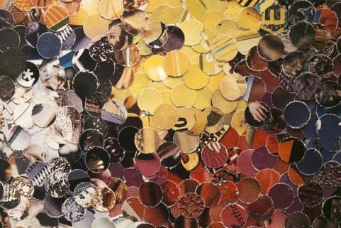 Vik Muniz works flowers collage art Paris