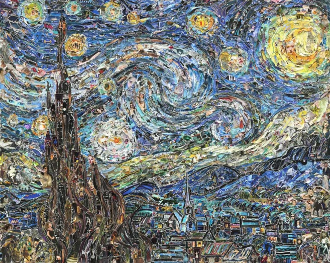 Starry Night Van Gogh Vik Muniz
