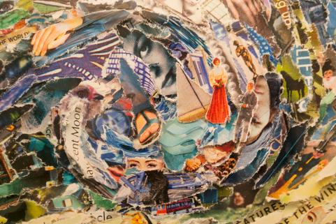 Vik Muniz works collage Paris