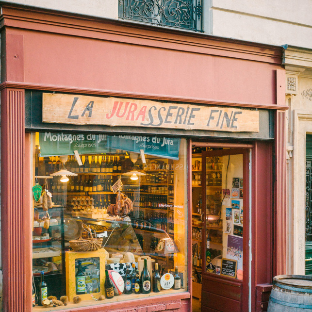 épicerine fine Juraaserie Fine fromagerie Montmartre Paris