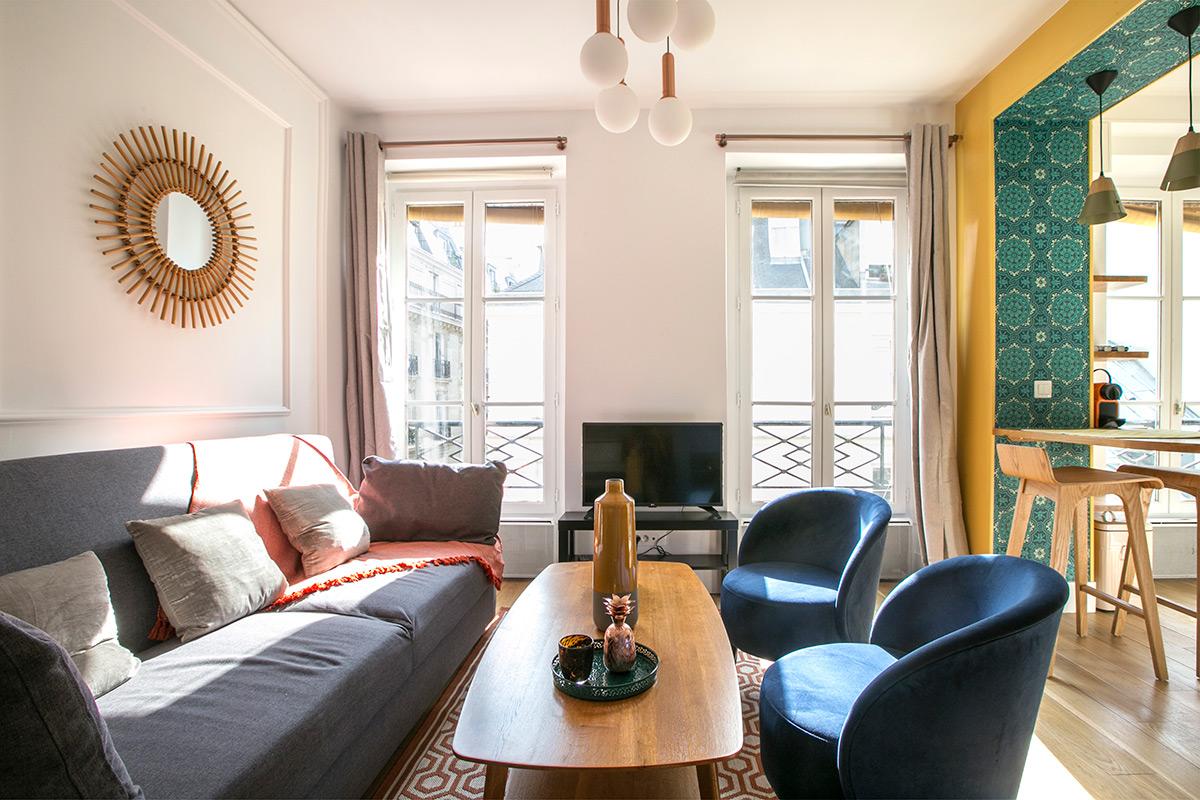 Déco studio meublé haut de gamme Paris