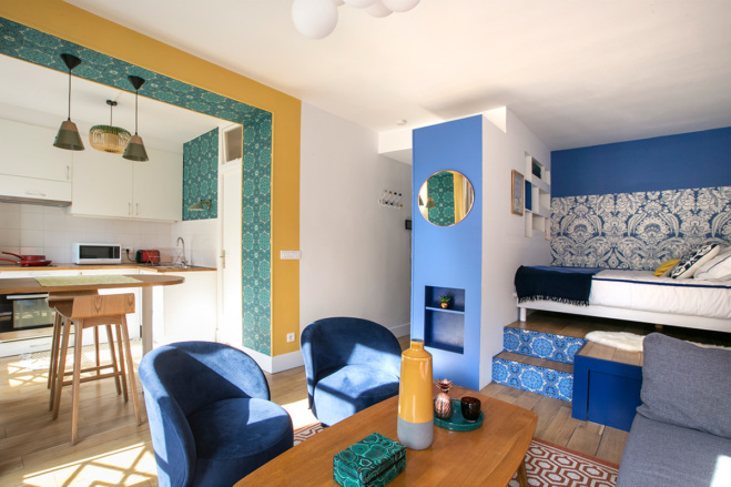 furnished studio rue du Temple Paris