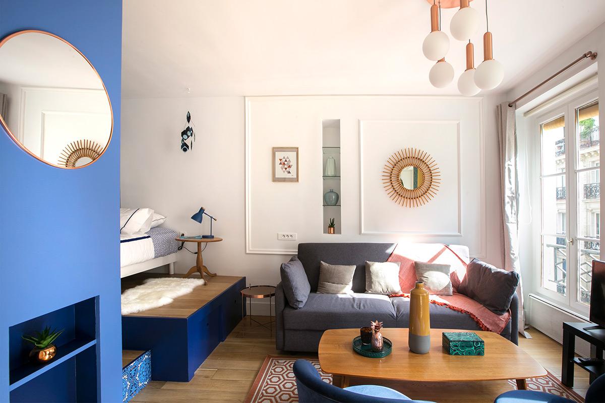 Appartement renové, décoré entièrement équipé