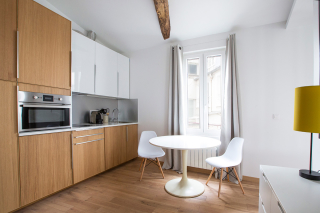 american kitchen furnished studio Paris