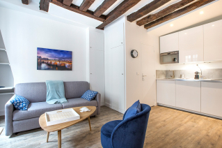 equipped furnished studio paris rental Saint-Germain-des-Prés