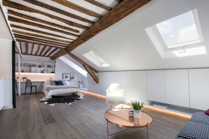 attic apartment Paris under the eaves