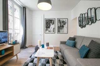 living Paris furnished apartment