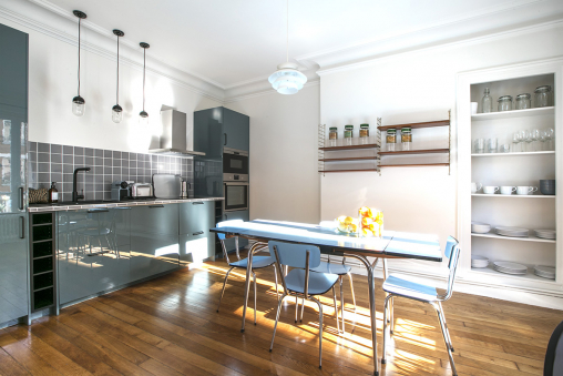equipped kitchen rent furnished Paris 10