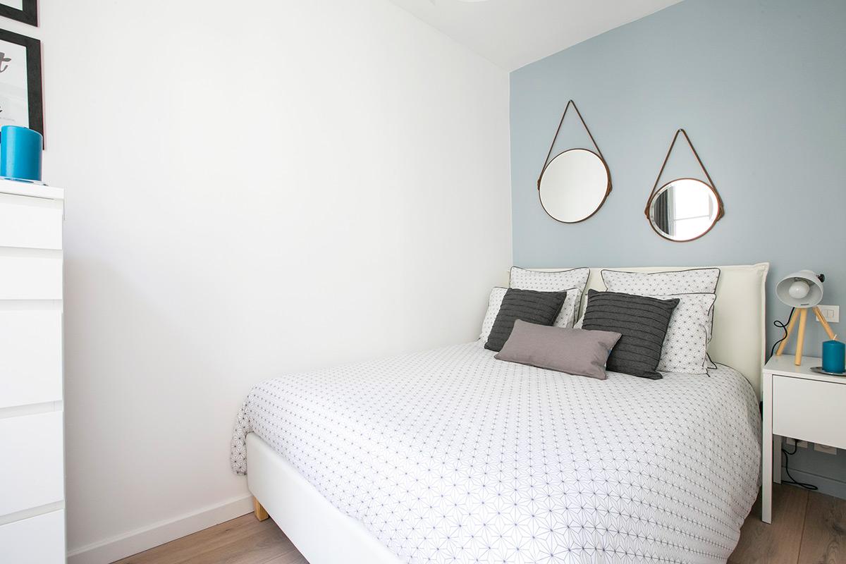 Appartement meublé avec chambre déco épurée