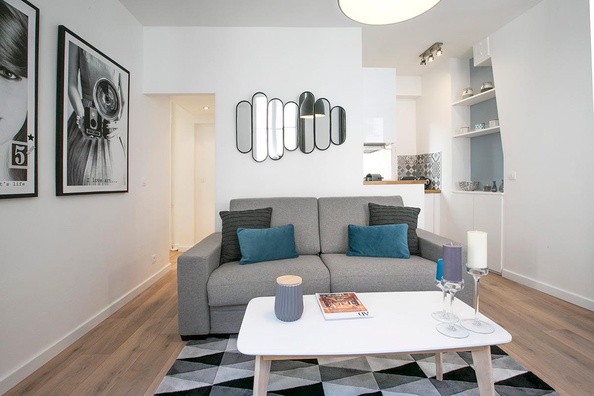 Location meublée style sobre et élégant