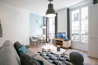 furnished rental Montorgueil neighbourhood