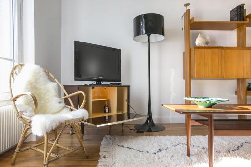objets vintage année 50 meubles appartement parisien