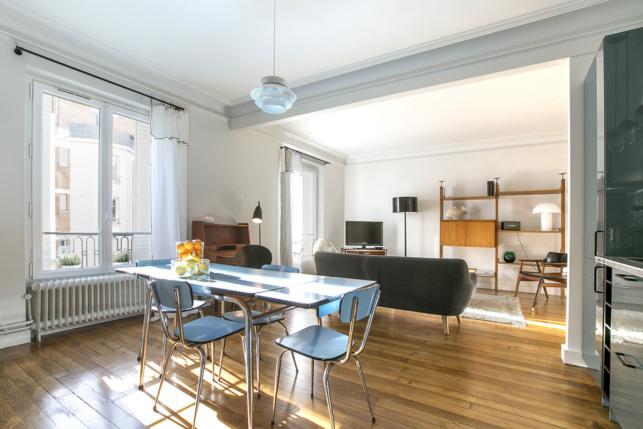 appartement meublé Paris décoration vintage