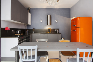 equipped kitchen loft Paris living rental