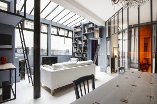 glazed partitions windows loft Paris