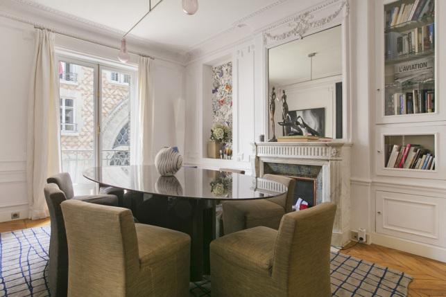 furnishe living-room apartment Art Nouveau Paris 7th arrondissement