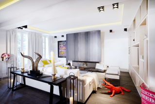 furnished house contemporary art works Neuilly Paris
