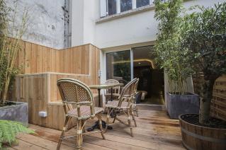 Appartement meublé studio jardin Paris