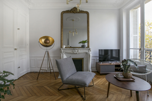 living-room paris apartment