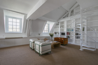cosy interior furnished apartment beneath the roof Paris