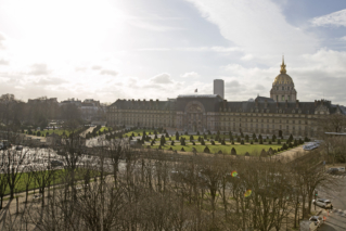 exceptional view of Esplanade des Invalides Paris furnished apartment