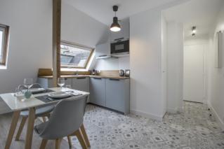 open-plan kitchen rent in Paris 8th