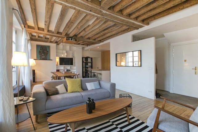 Duplex with three bedrooms rent in Paris