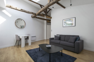 one bedroom apartment with cathedral ceiling Paris St-Lazare